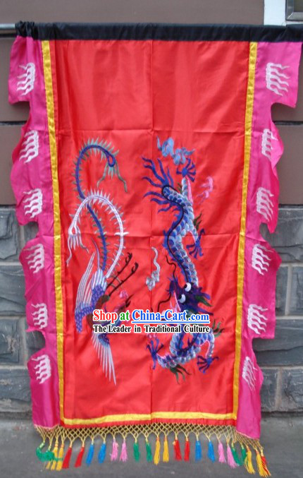 Traditional Chinese Dragon and Phoenix Flag