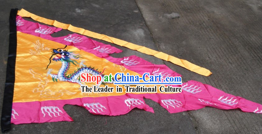 Traditional Chinese Embroidered Dragon Flag