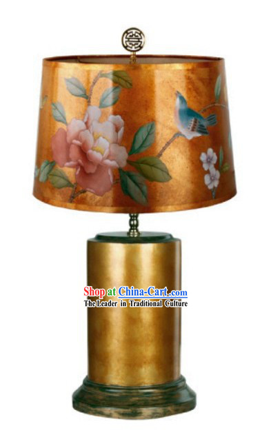 Chinese Hand Painted Silk Palace Reading Lamp Lampshade
