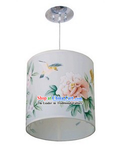 Chinese Classical Hand Painted Flower and Bird Silk Palace Lantern