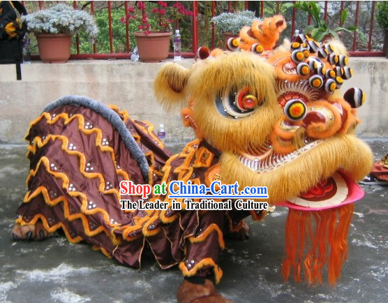 Chinese Classical Lion Dancing Costumes Complete Set