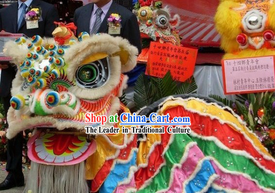 Handmade FUT SAN Southern Celebration Lion Dance Costumes Complete Set