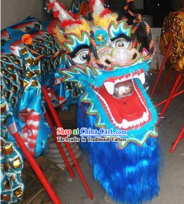 Traditional Chinese Golden Armor Dragon Dance Costume Complete Set for Children