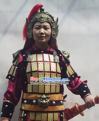Ancient Chinese General Armor Costumes Full Set