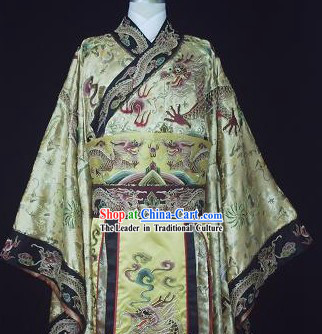 Ancient Han Dynasty Emperor Dragon Clothes