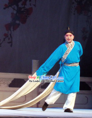 Chinese Opera Long Water Sleeve Dance Costumes for Men