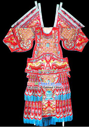 Peking Opera Da Kao Armor Costumes and Hat Set for Women