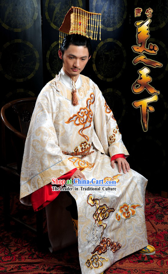 Tang Dynasty Emperor Dragon Robe Complete Set