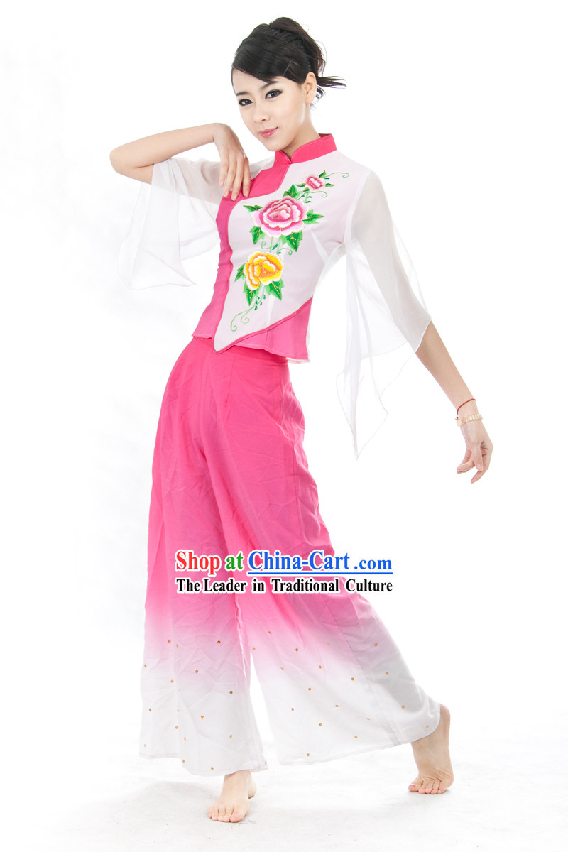 Chinese Yangge Dance Costume Complete Set