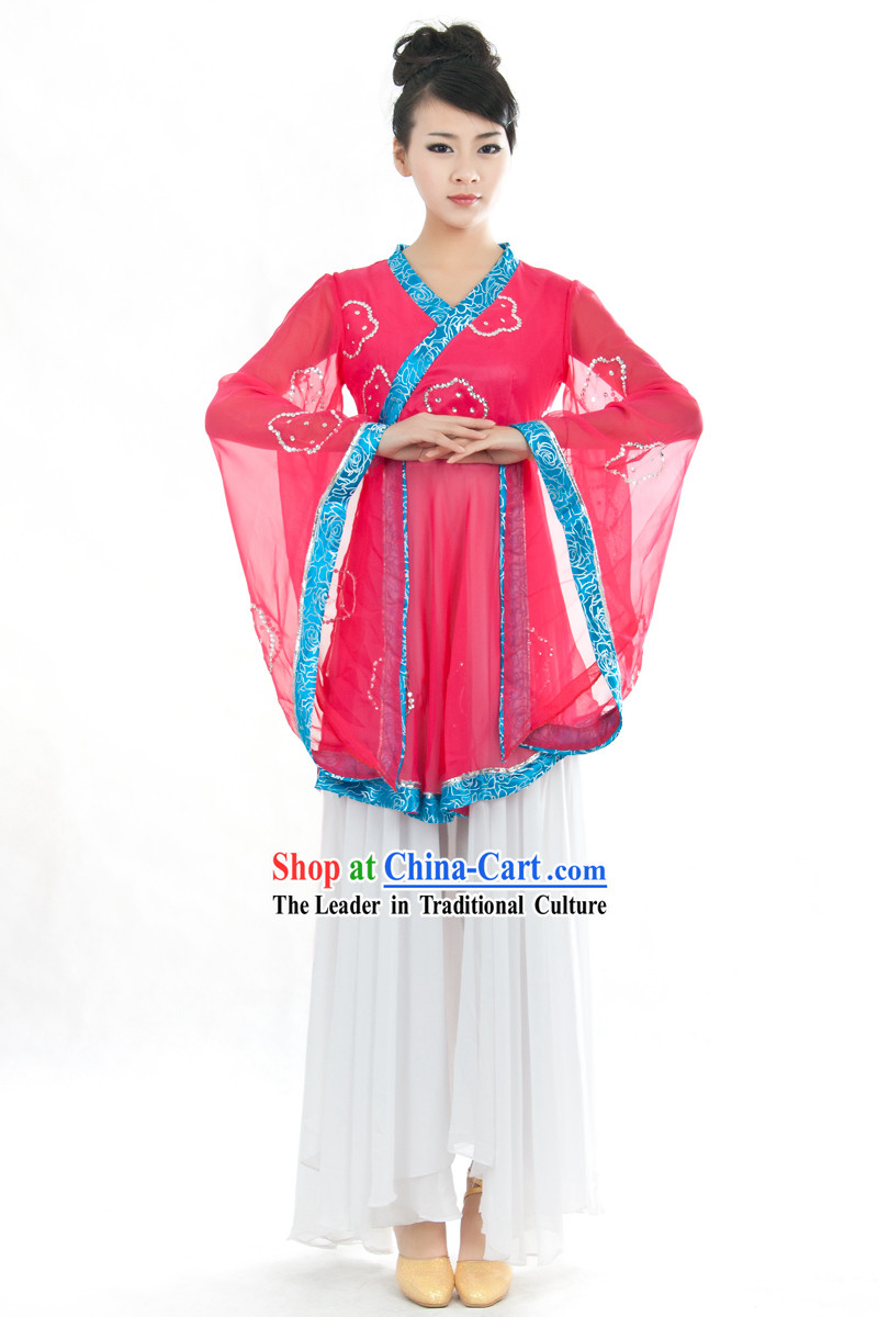 Traditional Chinese Umbrella Dance Costumes Complete Set
