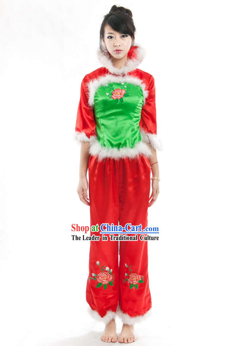 Chinese Lunar New Year Dance Costumes Set