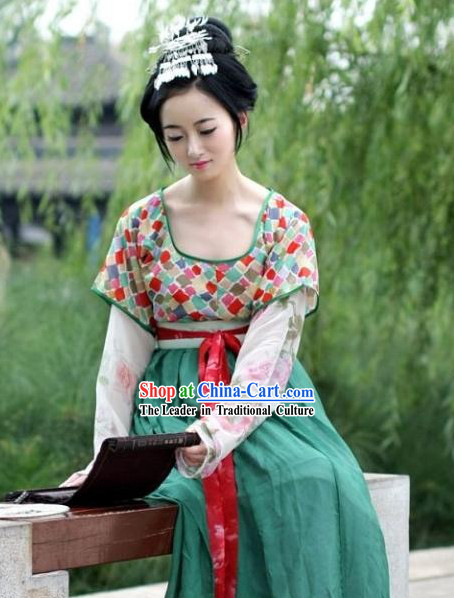 Chinese Tang Dynasty Imperial Costume Complete Set