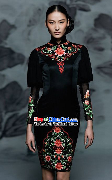 New Style Chinese Cheongsam Evening Dress