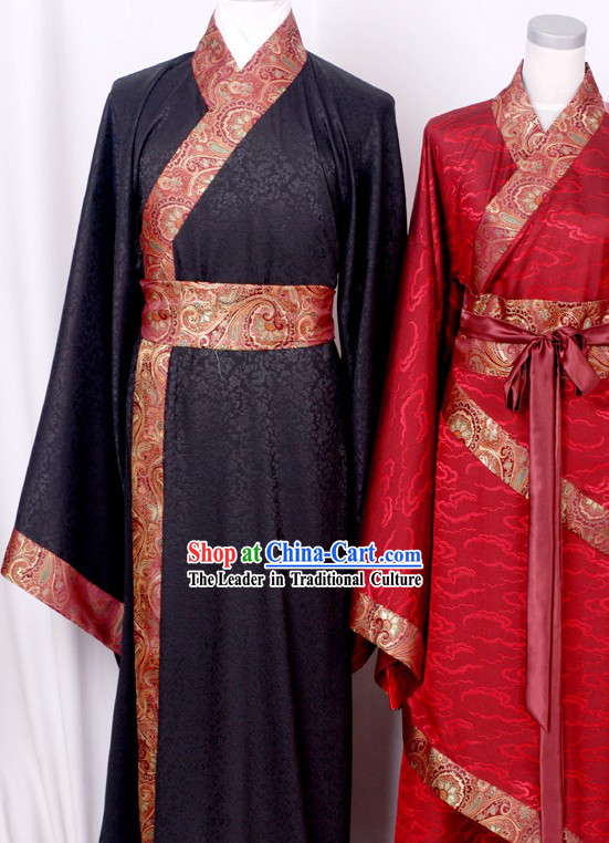 Cloud Pattern Han Chinese Clothing 2 Sets for Husband and Wife
