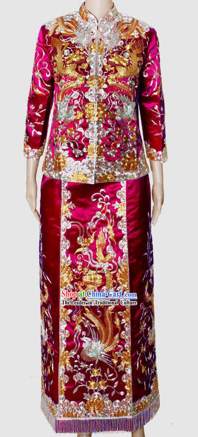 Traditional Chinese Mother-in-law Wedding Ceremonial Dress