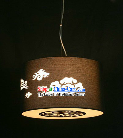 Traditional Chinese Auspicious Cloud Cloth Lantern Set