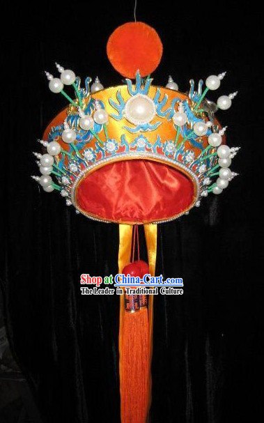 Chinese Local Folk Stage Performance Helmet Hat for Men