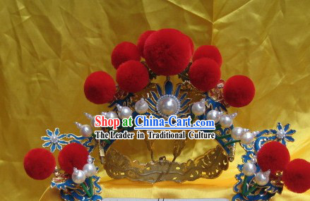 Chinese Peking Opera Wedding Hat for Men