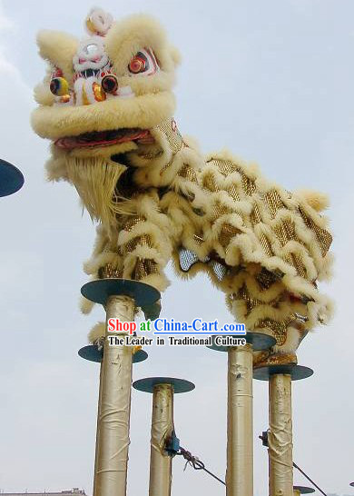 Supreme Sheep Fur HOK SAN Lion Dance Costume Complete Set