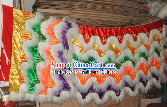 Top Luminous Sheep Fur Lion Dance Body, Pants and Shoes Set