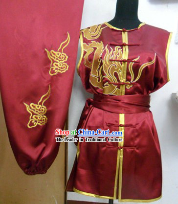 Chinese Southern Fist Nanquan Silk Embroidered Competition Suit for Men