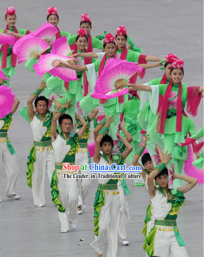 Beijing Olympic Games Opening Ceremony Fan Dance Costumes for Women