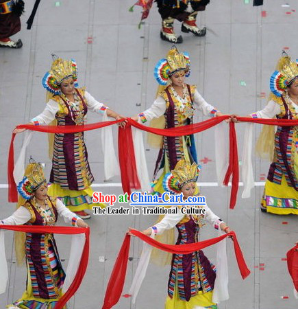 Beijing Olympic Games Opening Ceremony Tibetan Women Dance Costumes