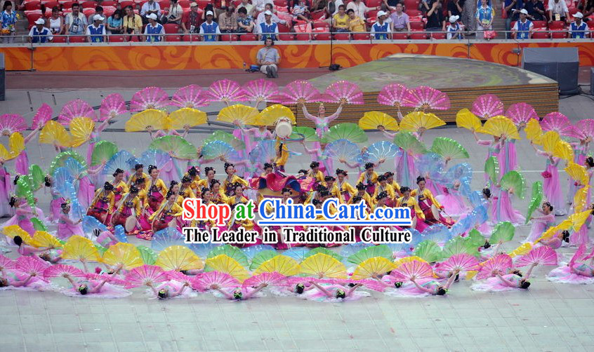 Beijing Olympic Games Opening Ceremony Chaoxian Ethnic Dance Costumes for Women