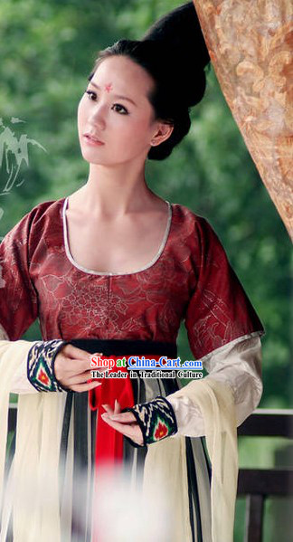 Ancient Chinese Tang Dynasty Princess Clothing Complete Set