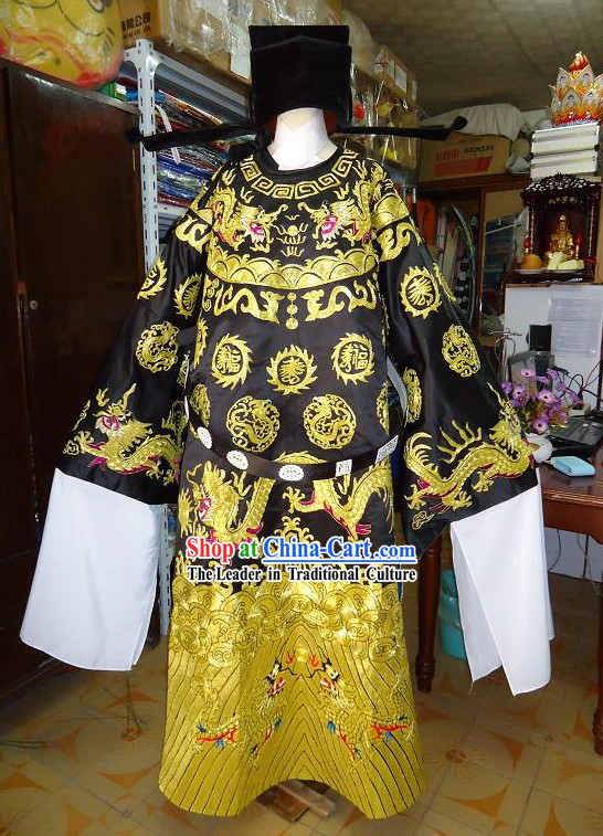 Chinese Opera Bao Gong Costumes and Hat