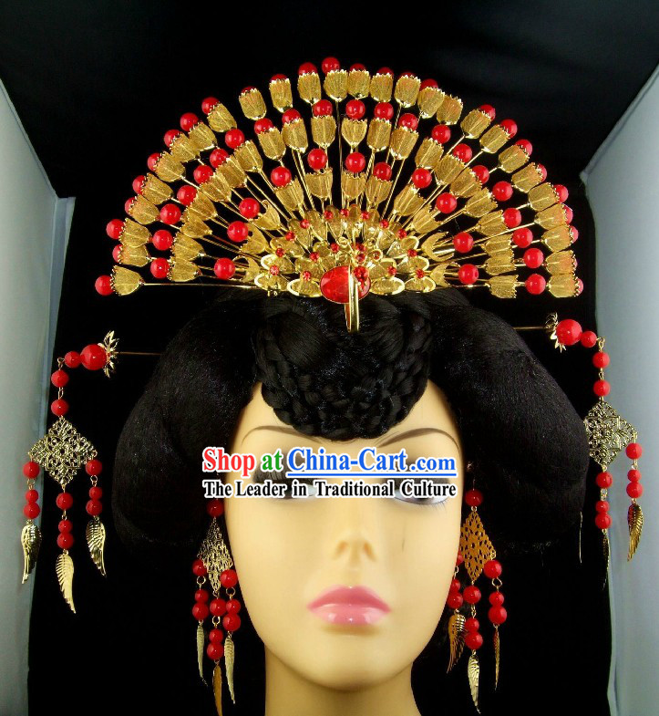 Traditional Chinese Wedding Phoenix Crown for Women
