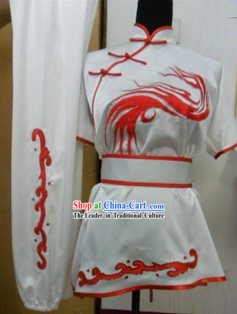 Traditional Chinese Short Sleeve Silk Wushu Clothing
