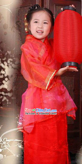 Traditional Chinese New Year Hanfu Clothing for Kids