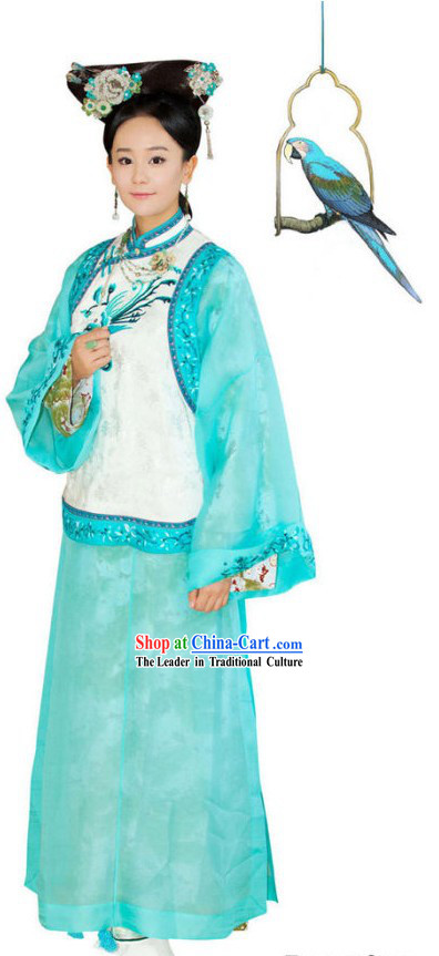 Qing Dynasty Princess Clothing Complete Set