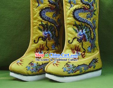 Ancient Chinese Emperor Dragon Shoes