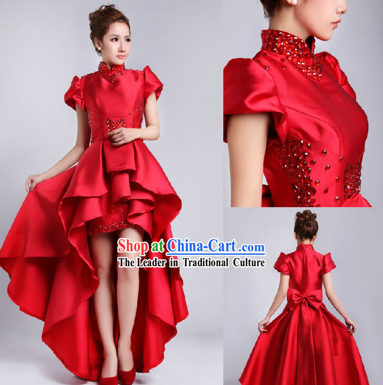 Stunning Chinese Red Bride Wedding Dress