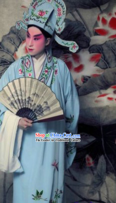 Ancient Chinese Lover Costumes and Hat for Men