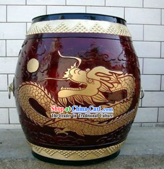 Chinese Classical Hand Made Dragon Drum