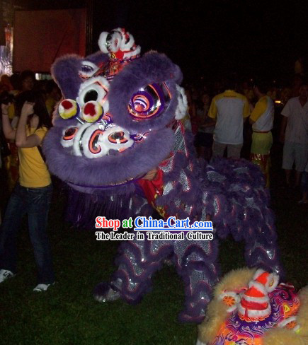 Traditional Festival Ceremony Laser Lion Dance Costume Complete Set