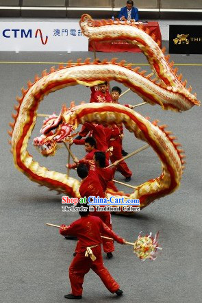 International Competition Luminous Dragon Dance Costumes Complete Set for College University Adults