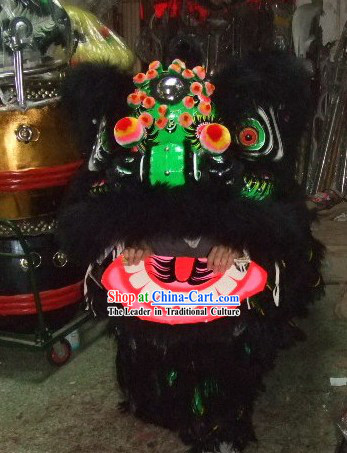 Super Cool Classic Black Lion Dance Costume Complete Set