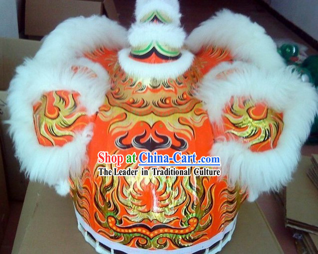 Supreme White Wool FUT SAN Laser Lion Dance Costume Complete Set