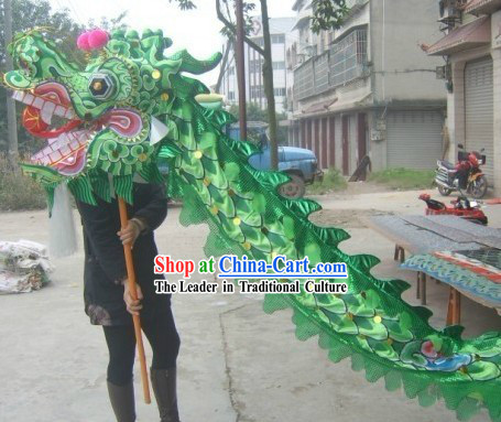 Green Beijing Olympic Games Dragon Dance Costume Complete Set