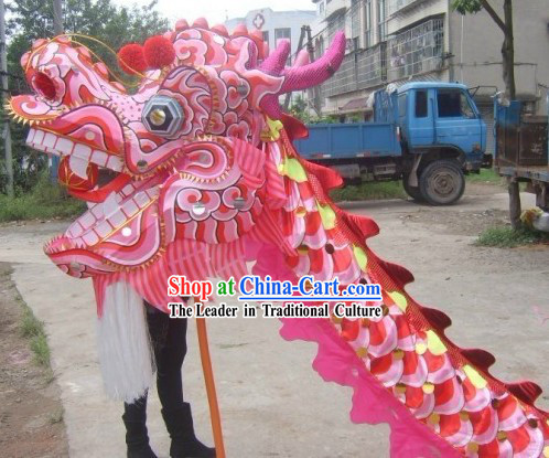 Pink Beijing Olympic Games Dragon Dance Costume Complete Set