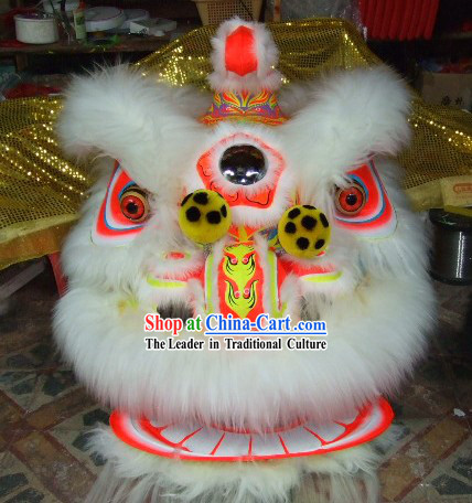 Supreme Luminous Handmade Lion Dance Costume Complete Set