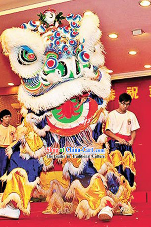 Happy Celebration Chinese Lion Dance Costumes Complete Set