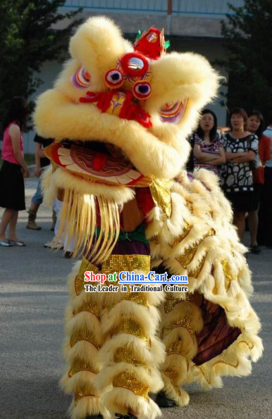 Supreme Long Wool Lion Dance Costume Complete Set for Kids