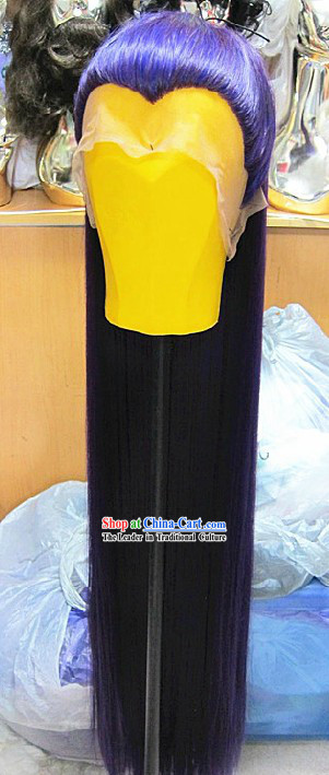 Ancient Chinese Handmade Swordsman Long Wig for Men