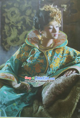 Ancient Chinese Imperial Concubine Green Costumes