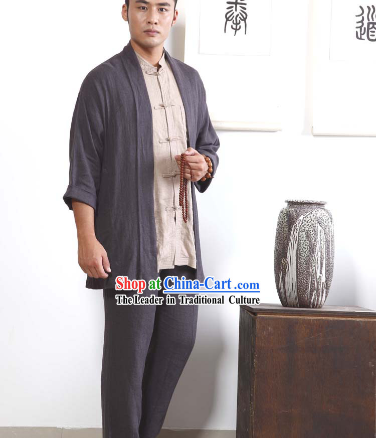 Chinese Classic Autumn Wear Clothes Set for Men